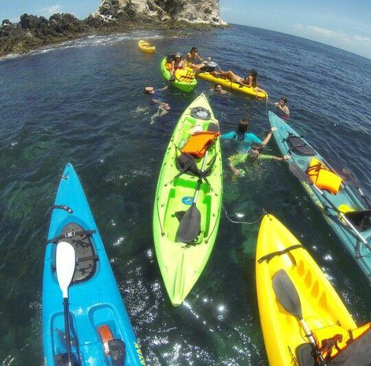 Kayak por el Farallon Pampatar