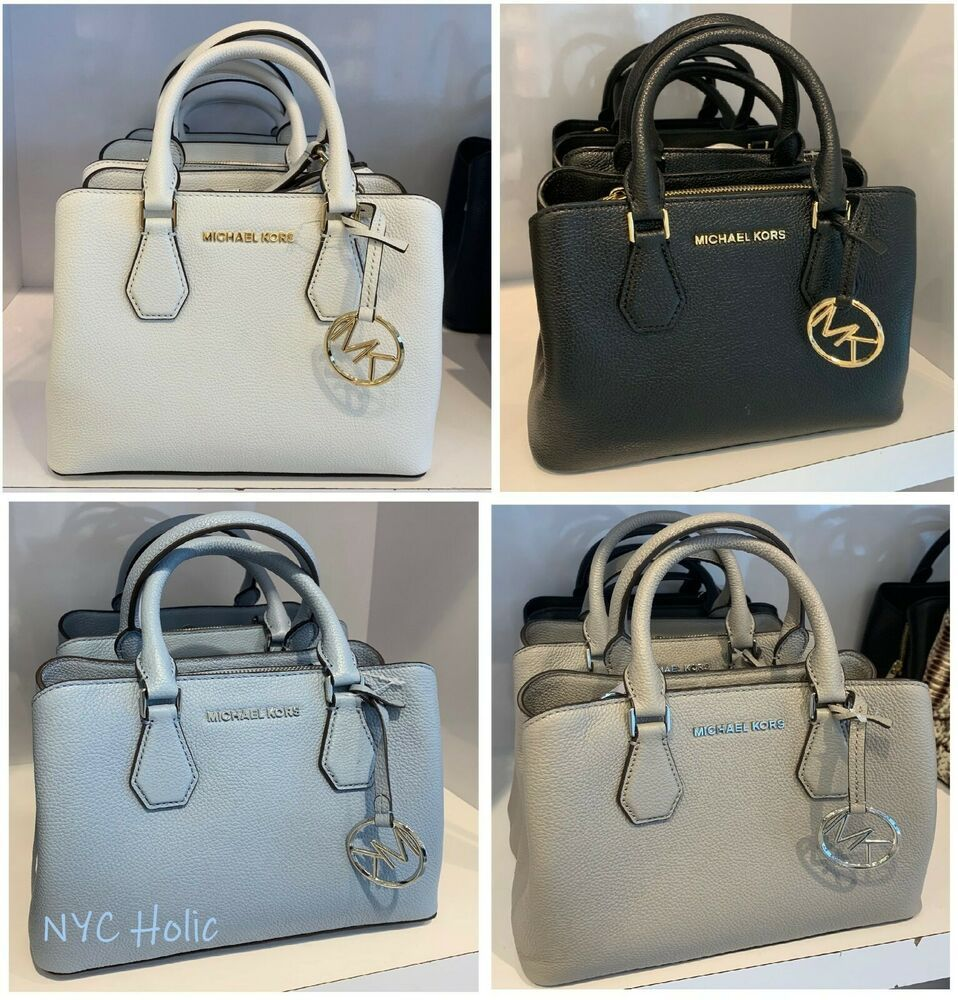 0c651153d0d2 New Michael Kors Camille Small Satchel Pebbled Leather Crossbody Handbag  Purse