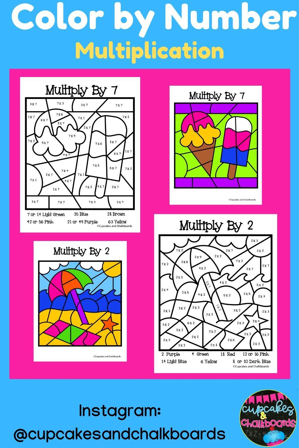 Printable Multiplication Facts Color By Number Worksheets Multiplication Facts Multiplication Math Resources [ 1500 x 1000 Pixel ]