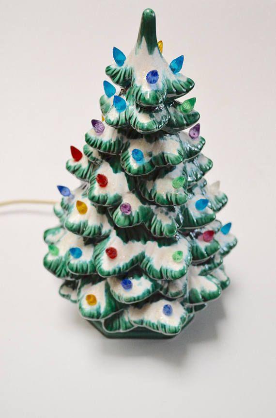 vintage ceramic Christmas tree light up vintage holiday tree
