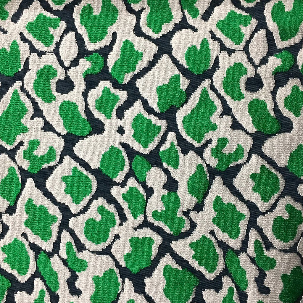 Hendrix leopard print cut velvet fabric upholstery fabric by the yar top