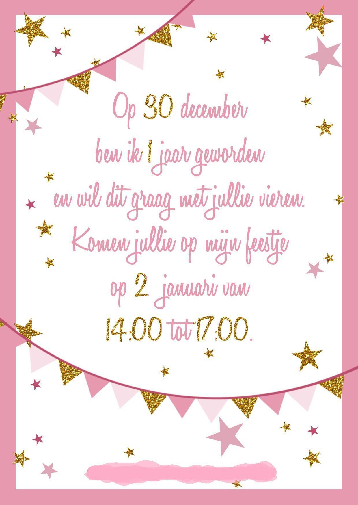Favoriete Uitnodigingen Verjaardag : Uitnodigingen Verjaardag 1 Jaar  SA83