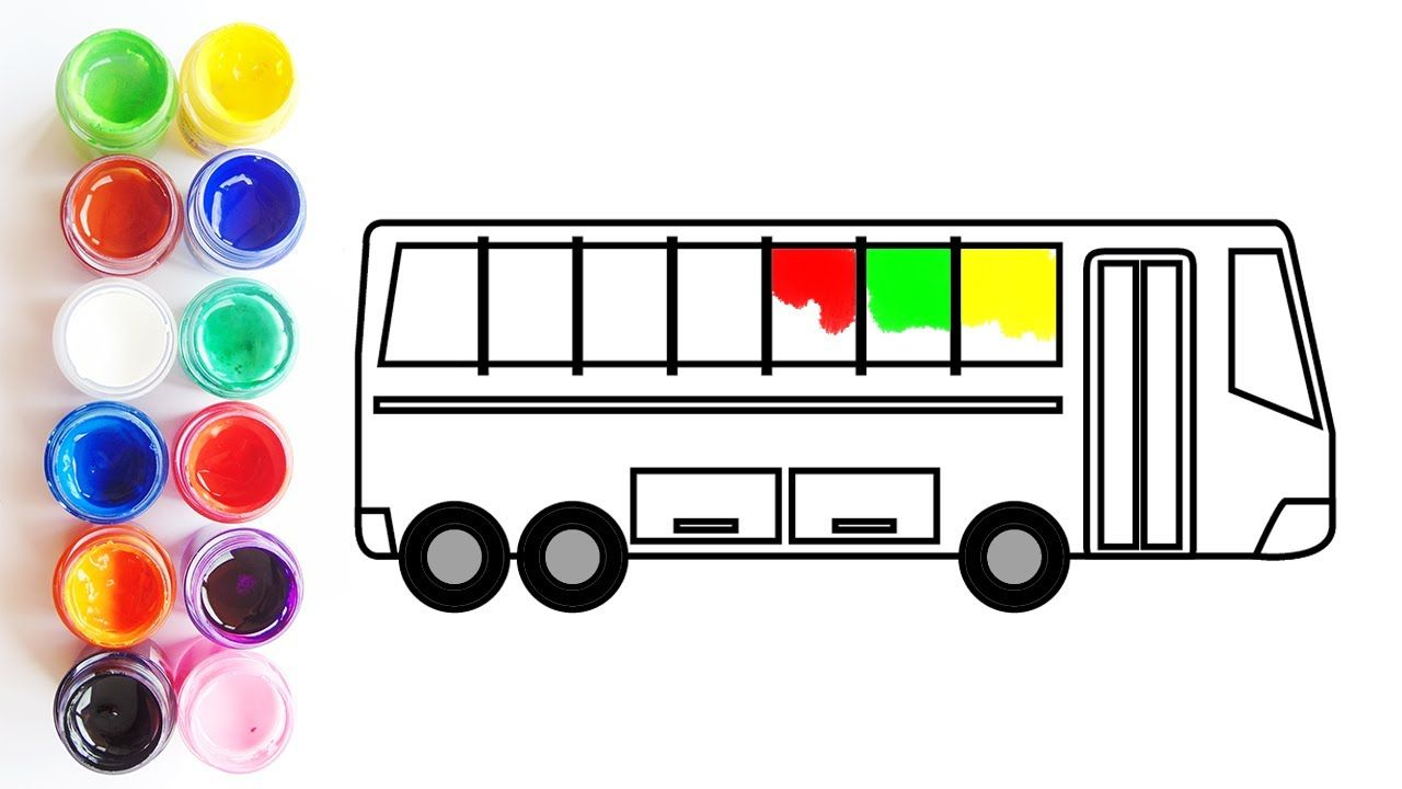 Learn Colors with Car, School Bus Coloring Pages, Coloring Video for ...