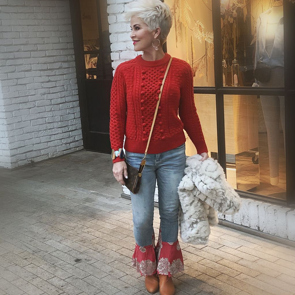 A Red Sweater Will Work Nearly Any Time! - Chic Ov