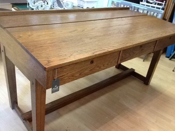 Attractive Antique Stool Height School Desk / Drafting Table