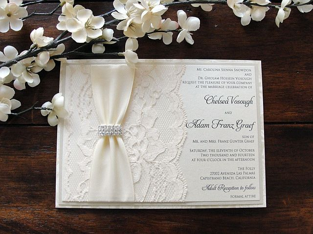 Wedding invitations with lace! Repin if you love ! #ucweddings #etsy