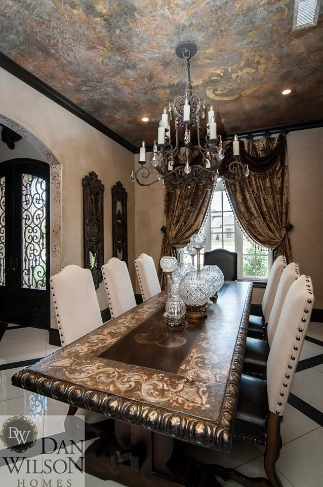 Merveilleux Gorgeous Dining Room...White.Bronze.Gold...Dan Wilson Homes