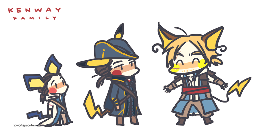 Pikachu Kenway Family Assassins Creed Art Assassin S Creed