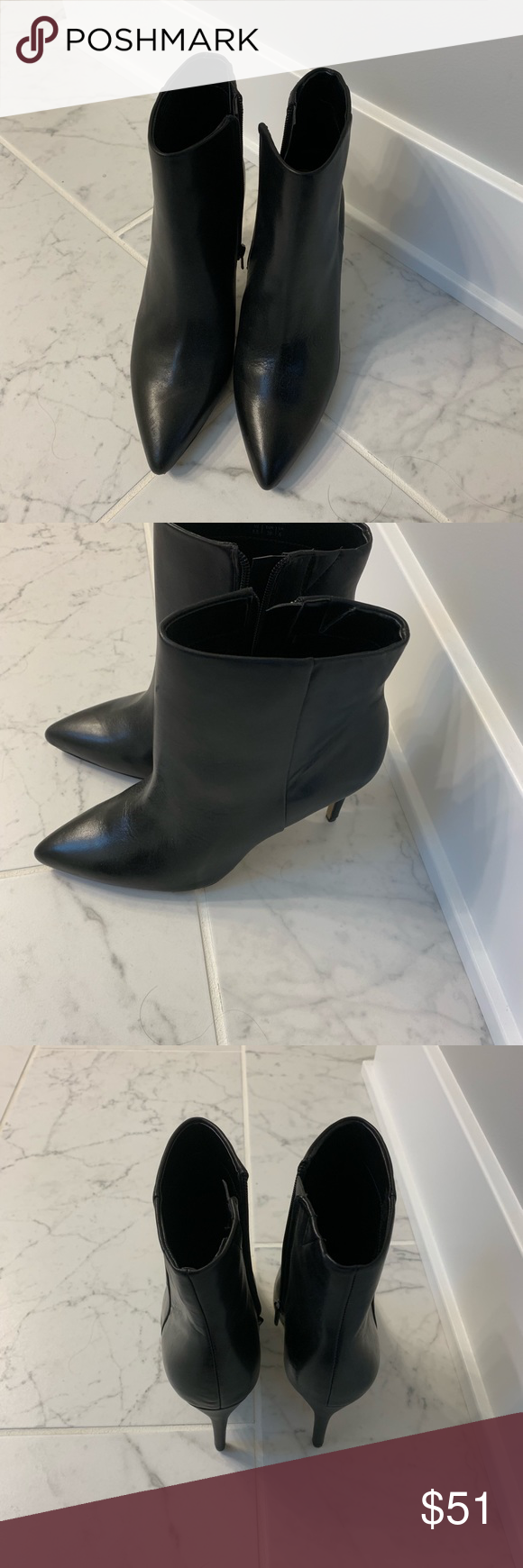 Aldo ankle heeled booties Never worn black Aldo boots. Super cute with dresses or skinny jeans. Dress up or for a casual date night out Aldo Shoes Heeled Boots #skinnyjeansandankleboots