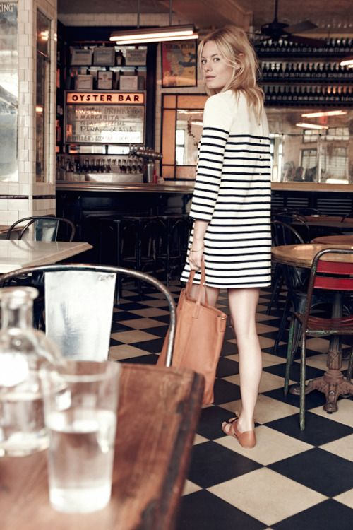 camille rowe | striped shift