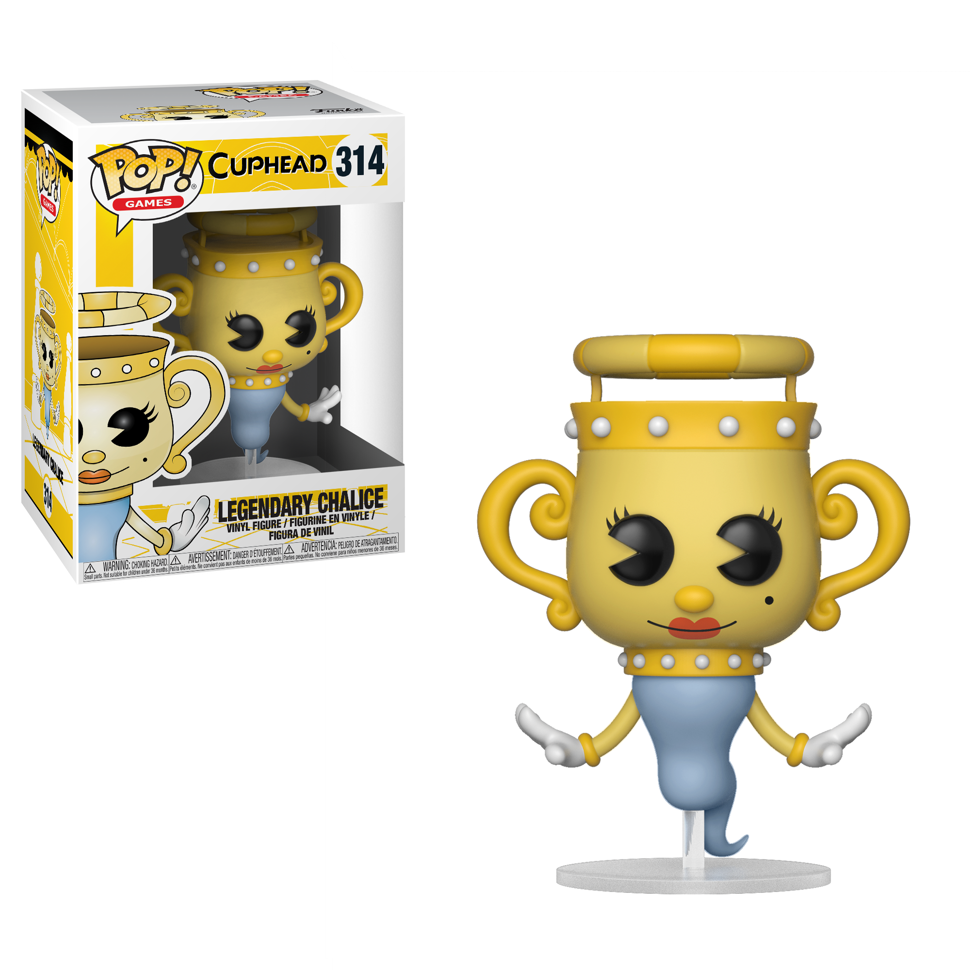 Cuphead-Legendary Chalice Collectible Figure 26969 Accessory Toys /& Games Funko Pop Games