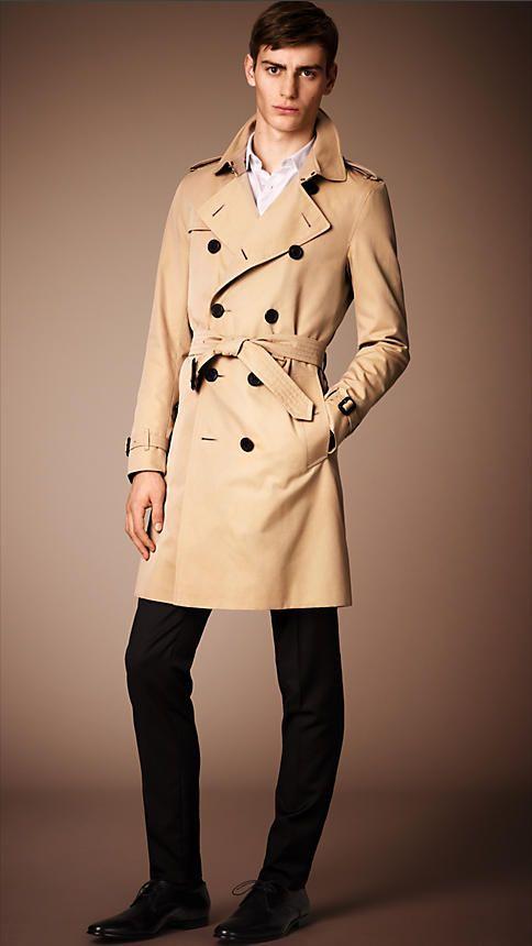the sandringham long trench coat in honey men suit. Black Bedroom Furniture Sets. Home Design Ideas