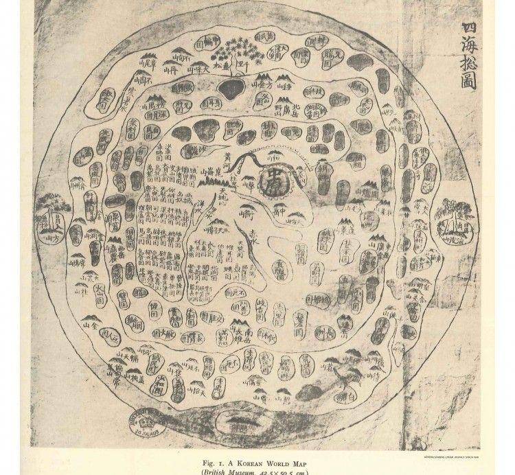 Mapa mundial Coreano (año1800). Interesante visión del mundo