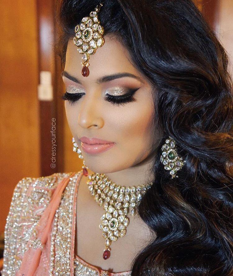 Indian Wedding Makeup: Peach Makeup, Indian Wedding