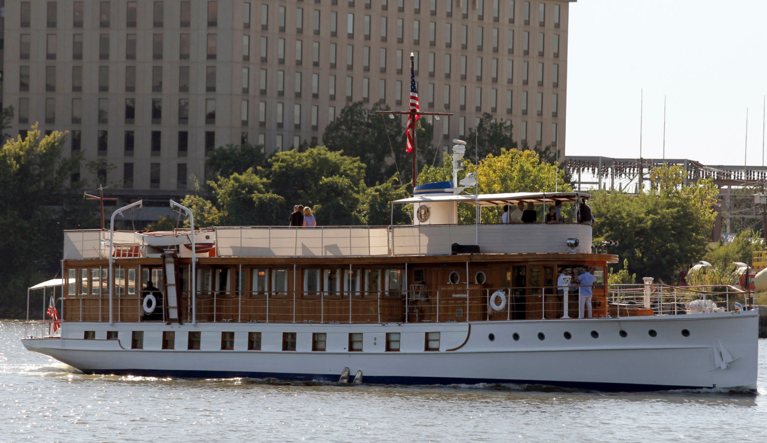 US presidential yacht sold for 0 Big yachts, Wood boats