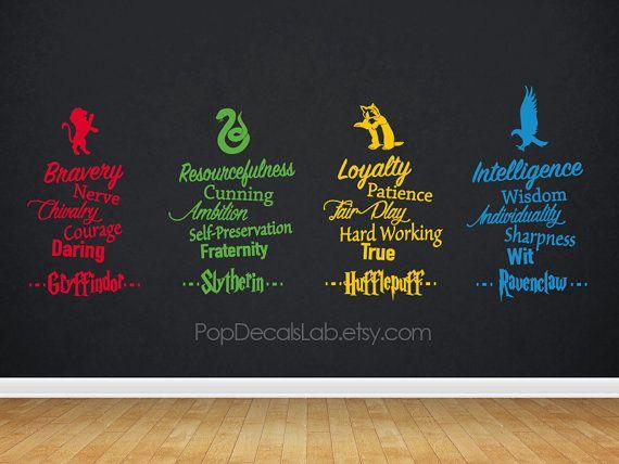 Gryffindor Slytherin Hufflepuff Ravenclaw Traits by