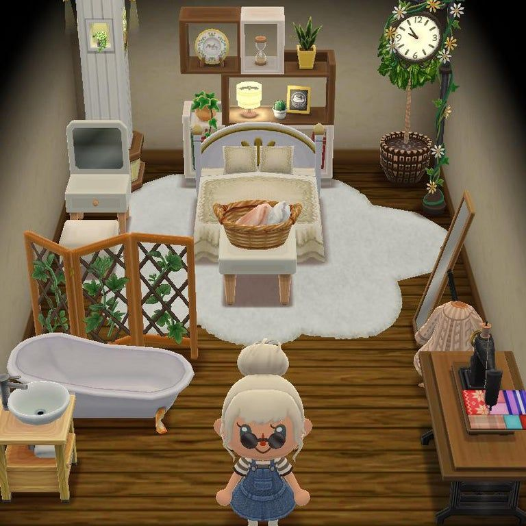 Re Did My Upstairs Camper Into A Little Bedroom Acpocketcamp In 2020 Animal Crossing Pc New Animal Crossing Animal Crossing Characters