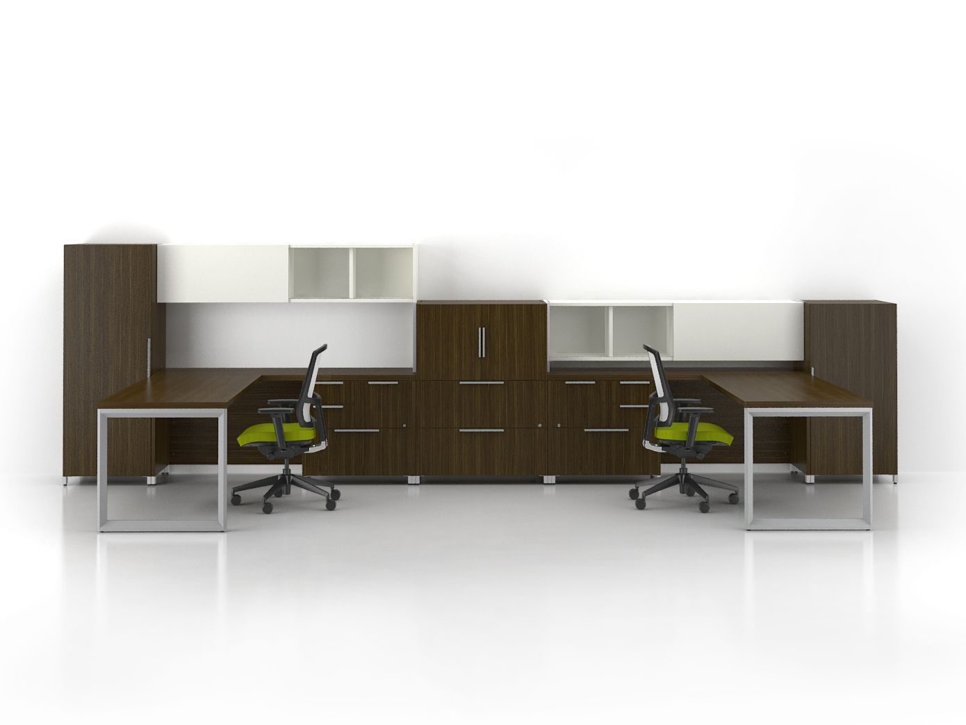 Quad Dual Workstation Poste Double Lacasse Quad By Lacasse  # Muebles Ultramodernos