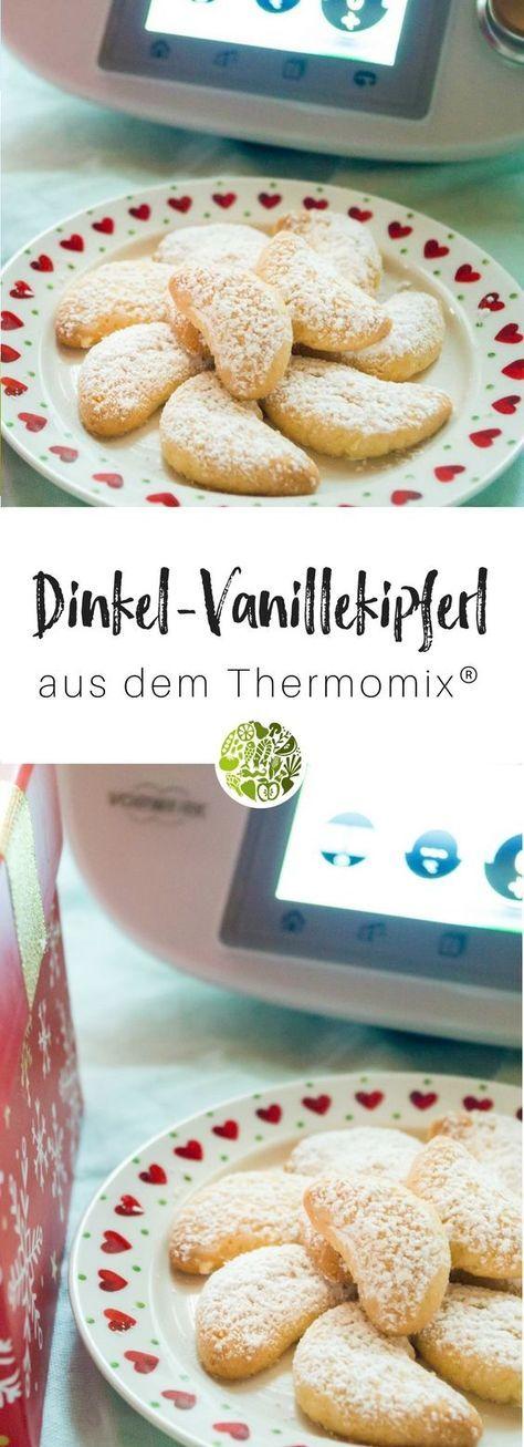 Dinkel-Mandel-Vanillekipferl aus dem Thermomix