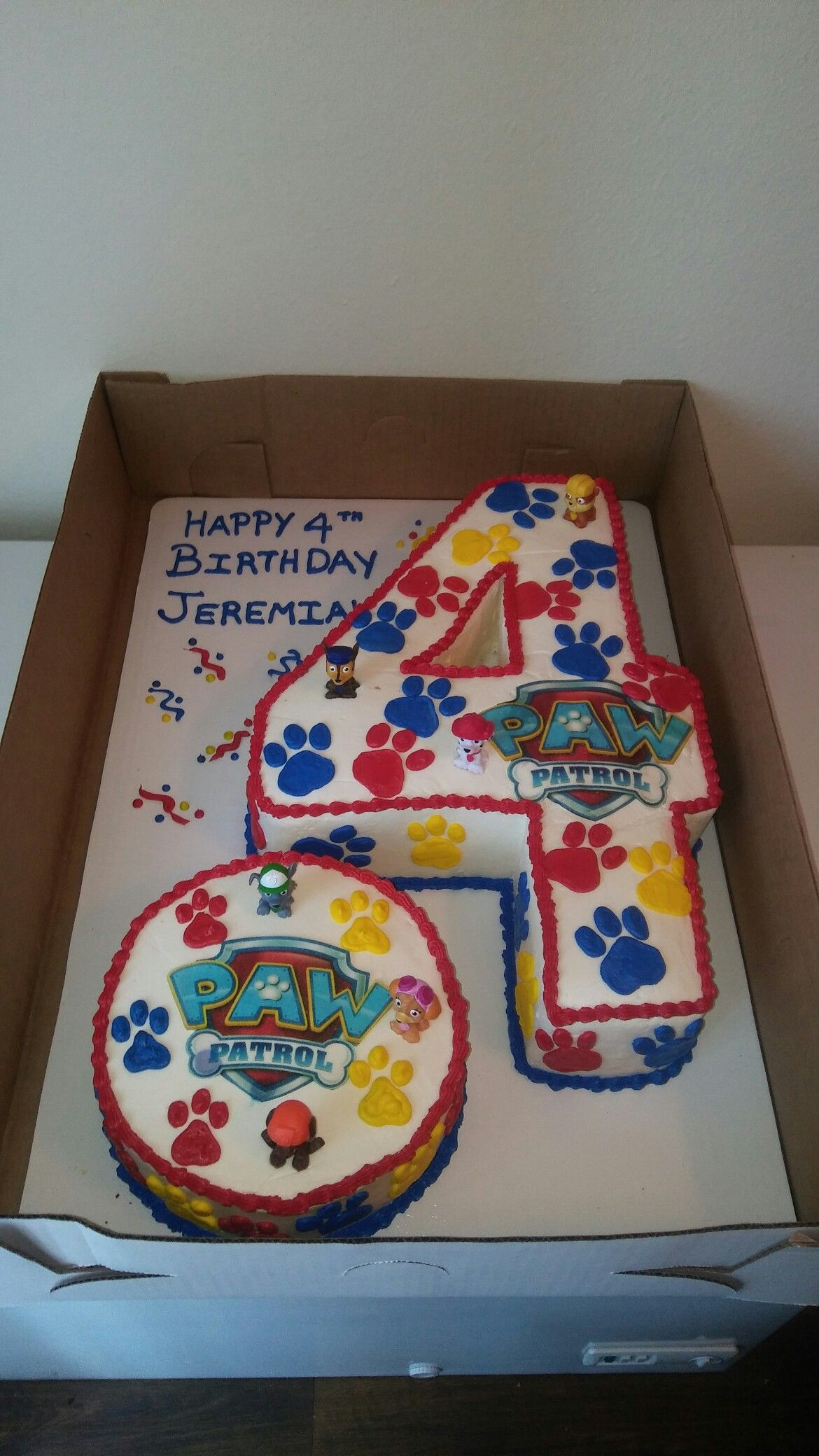 Paw Patrol 4 Cake With Images Paw Patrol Birthday Party Paw