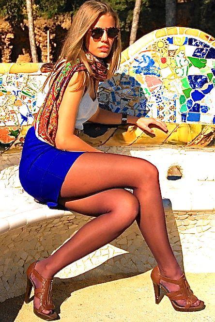 in pantyhose women spanish