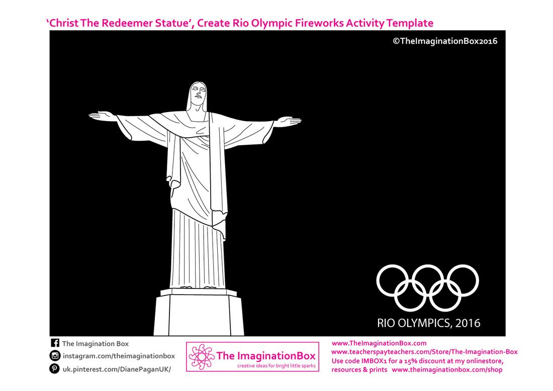 Free Olympic Fireworks Activity Template With Images