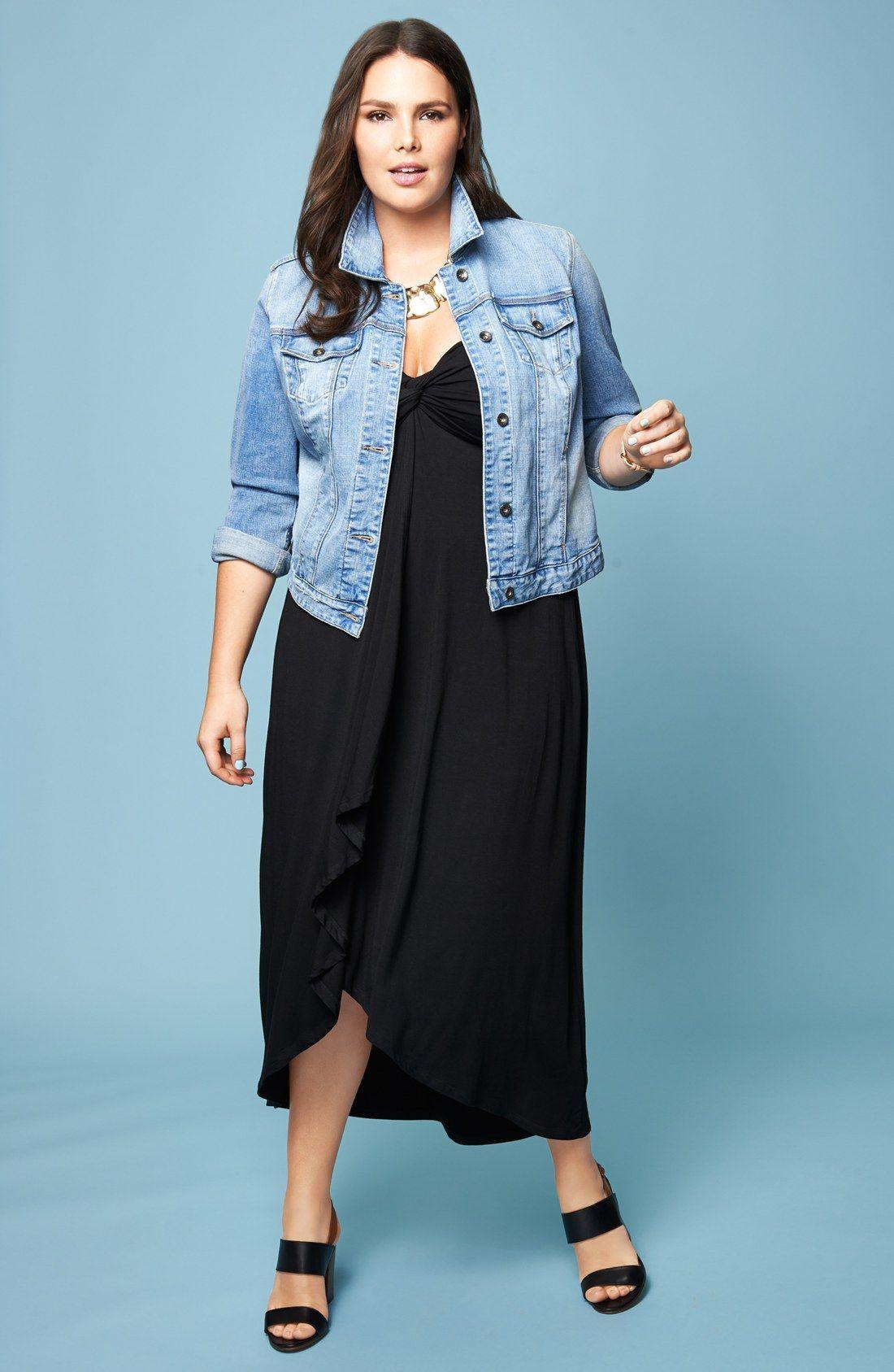 City Chic Santorini Twist Front Strapless Maxi Dress Plus Size