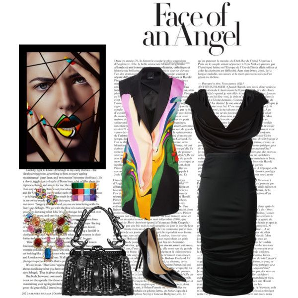 Face of an Angel by confusgrk on Polyvore featuring polyvore fashion style Cushnie Et Ochs Josh Goot Givenchy Swarovski Valentino Effy Collection Christian Dior