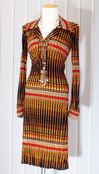 Vintage 70 Jahre Missonikleid 70er Jahre Kleider 70er Kleider Mode
