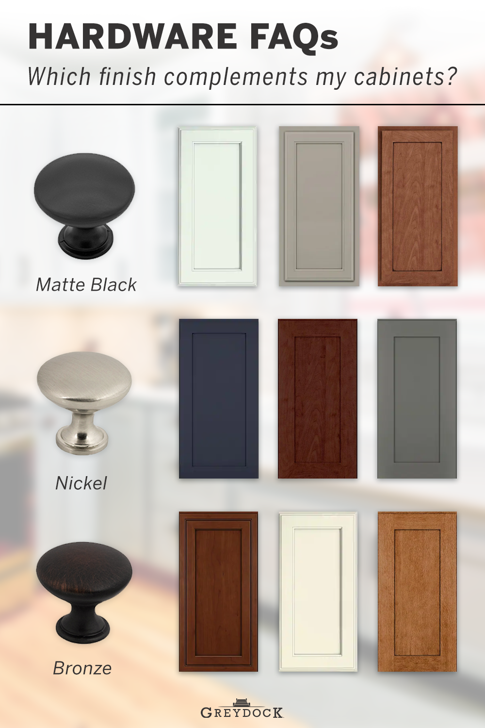 Which Cabinet Hardware Finish Will Match My Cabinets Cabinet Hardware Colors Black Cabinet Hardware Cherry Wood Cabinets