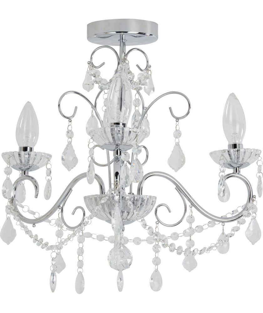 Buy heart of house spetses chandelier bathroom fitting chrome at buy heart of house spetses chandelier bathroom fitting chrome at argos aloadofball