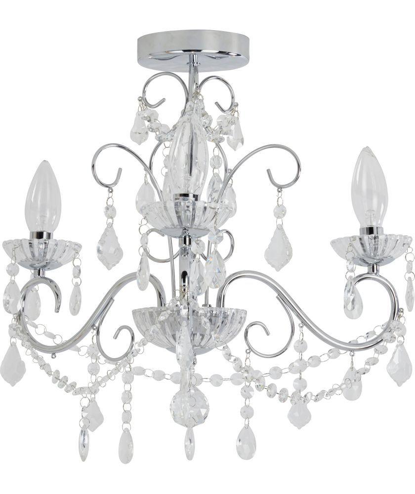 Buy heart of house spetses chandelier bathroom fitting chrome at buy heart of house spetses chandelier bathroom fitting chrome at argos mozeypictures Gallery