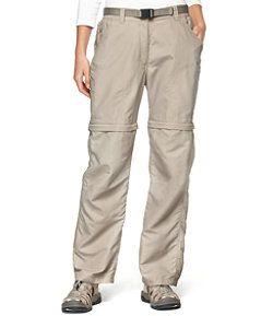 These women's bug repellent pants have No FlyTM technology to naturally ward off insects and versatile zip-off bottoms to keep you cool when the weather heats up.