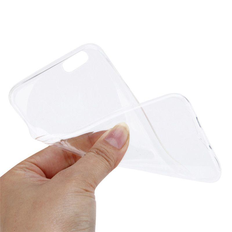 ソフトクリアケース0.3ミリメートルスーパースリムtpu gelシリコン電話case用iphone 4 5 5 s 6 6 s透明カバーのためのiphone 7 7プラス