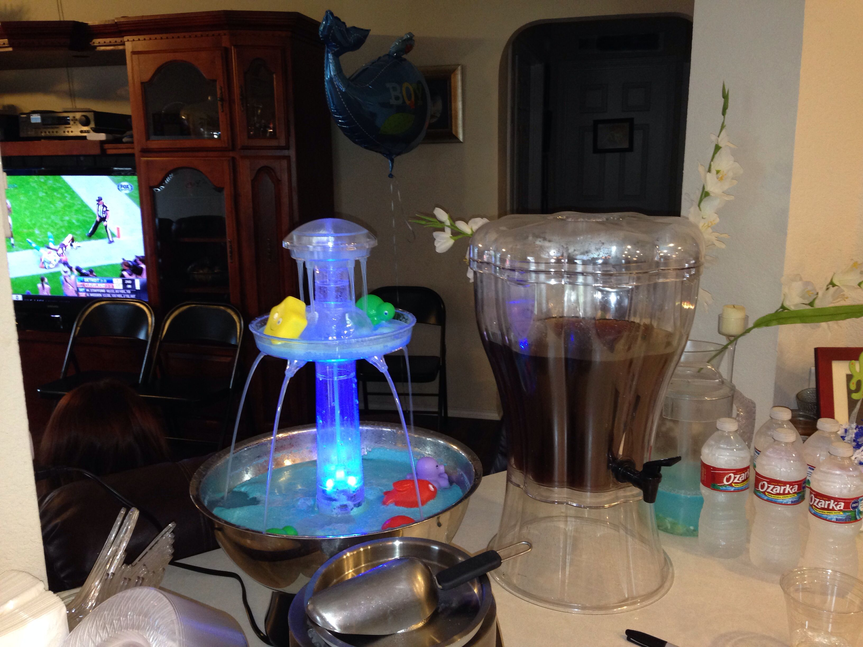 Under the sea baby shower punch fountain 4 packets blue kool aid