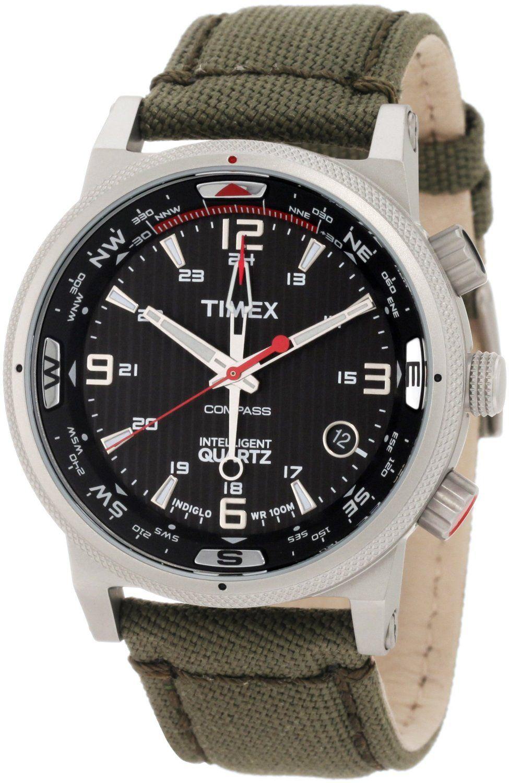 cd9dbc322536 Timex Men s T2N726 Intelligent Quartz Adventure Series Compass Olive Green  Strap Watch  Watches  Amazon.com