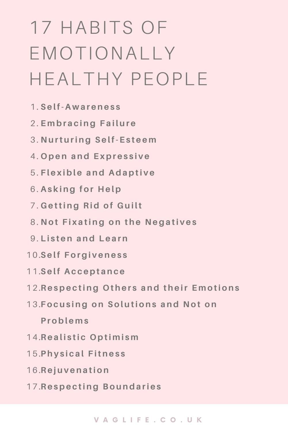 17 Habits Of Emotionally Healthy People