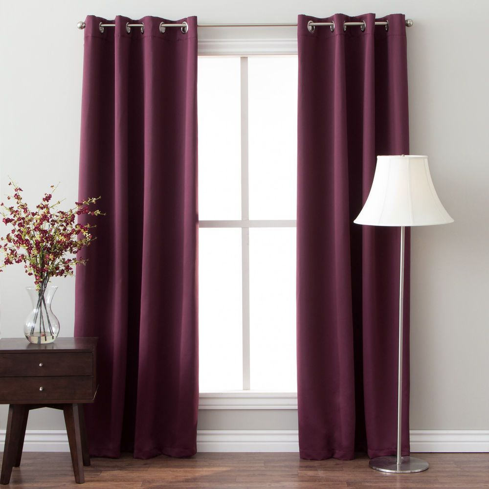 96 Inch Insulated Grommet Top Blackout Curtain Panel Pair #ArloBlinds