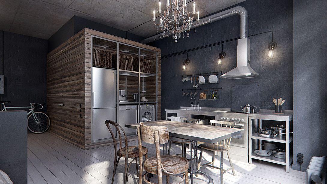 Gravity Interior | Moscow studio apartment by INT2 | STUDIO & LOFT ...