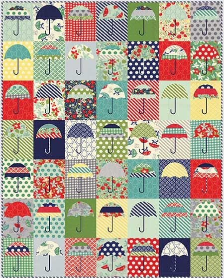Rain Check Quilt Kit using Moda April Showers by Bonnie and