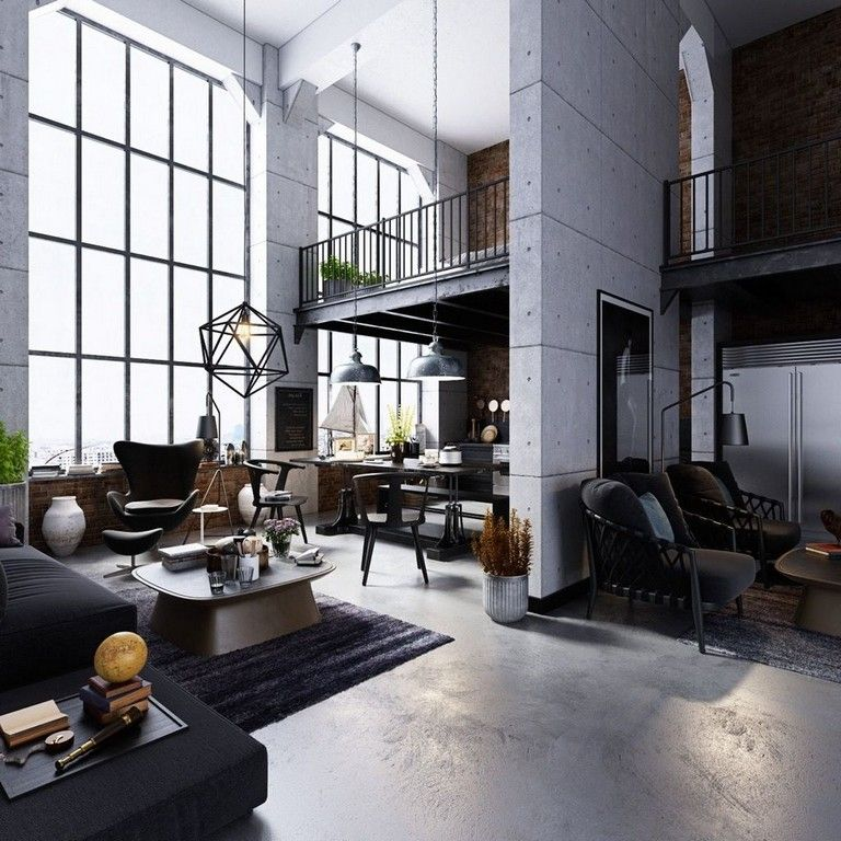 30 Admirable Industrial Style Living Room Design Ideas Livingroom Livingroo Industrial Style Living Room Urban Industrial Decor Rustic Industrial Living Room