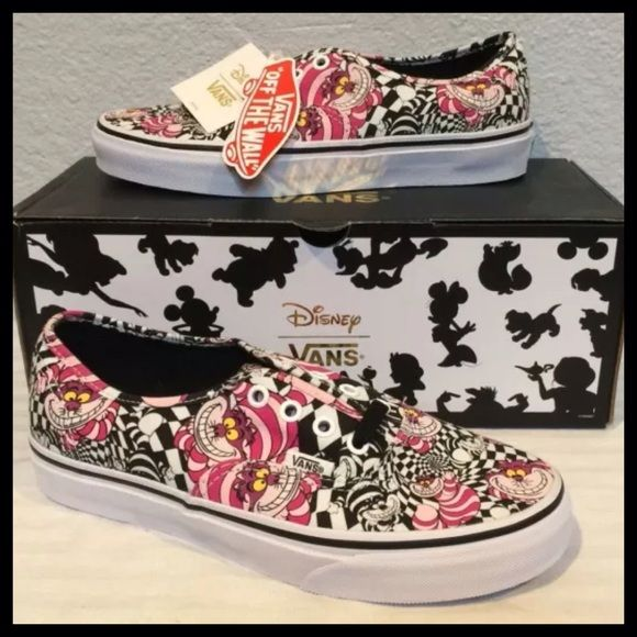 VANS x DISNEY Sz 7 Cheshire Cat Shoes Authentic Sz 7