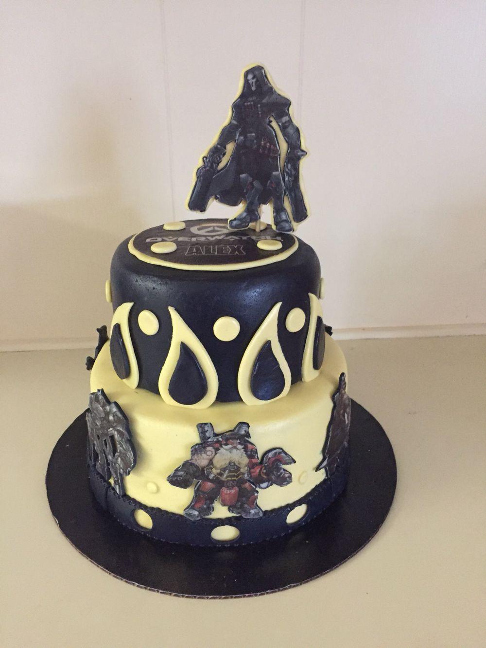 Overwatch video game cake Cakes by Belinda Pinterest