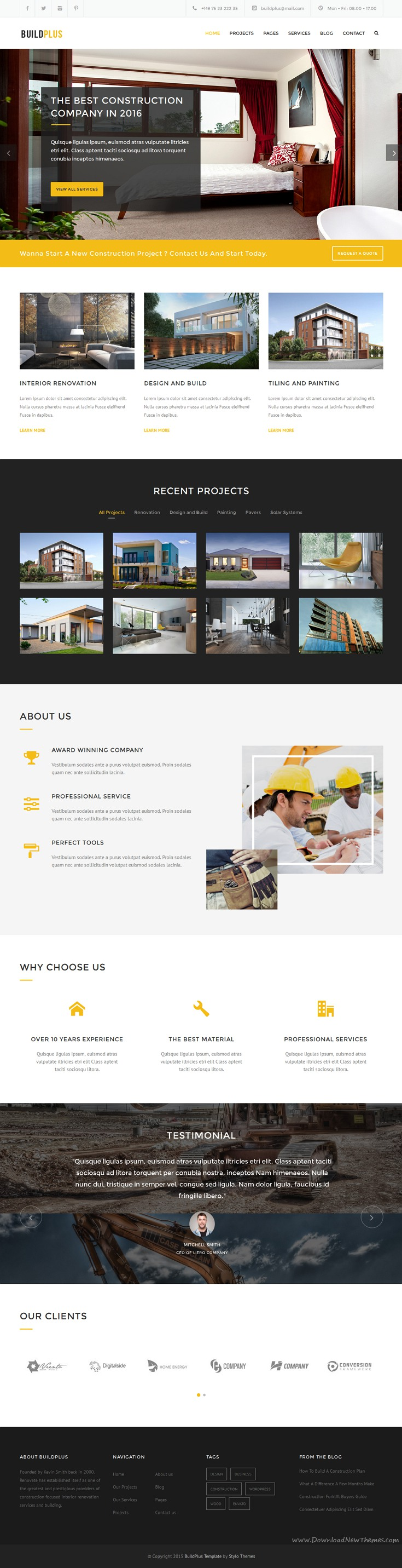 BuildPlus Responsive Construction and Renovation Template ...