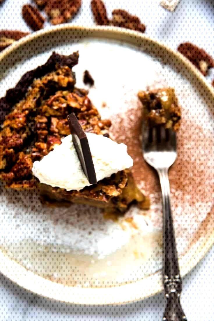 Bourbon Pecan Pie with Chocolate Crust - Pies -