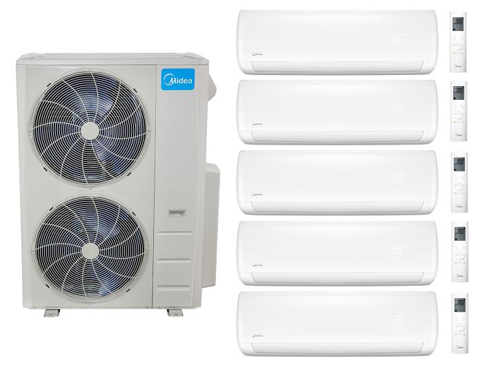Quint Zone Mini Split In Minisplitwarehouse Get A Midea 20 5 Seer 5 Room 5 12000btu Quint Zone Mini Split Heat Pump System Heat Pump Air Conditioner Heat Pump