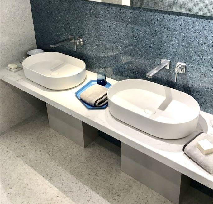 Terrazzo kylpyhuone laatat