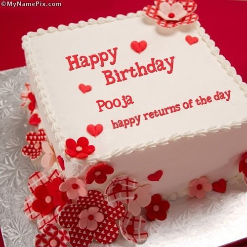 The Name [pooja] Is Generated On Happy Returns Birthday
