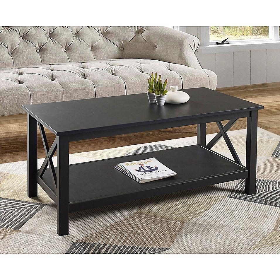 Deborah Pine Coffee Table In Black Bed Bath Beyond Black Coffee Tables Coffee Table Solid Wood Coffee Table [ 956 x 956 Pixel ]