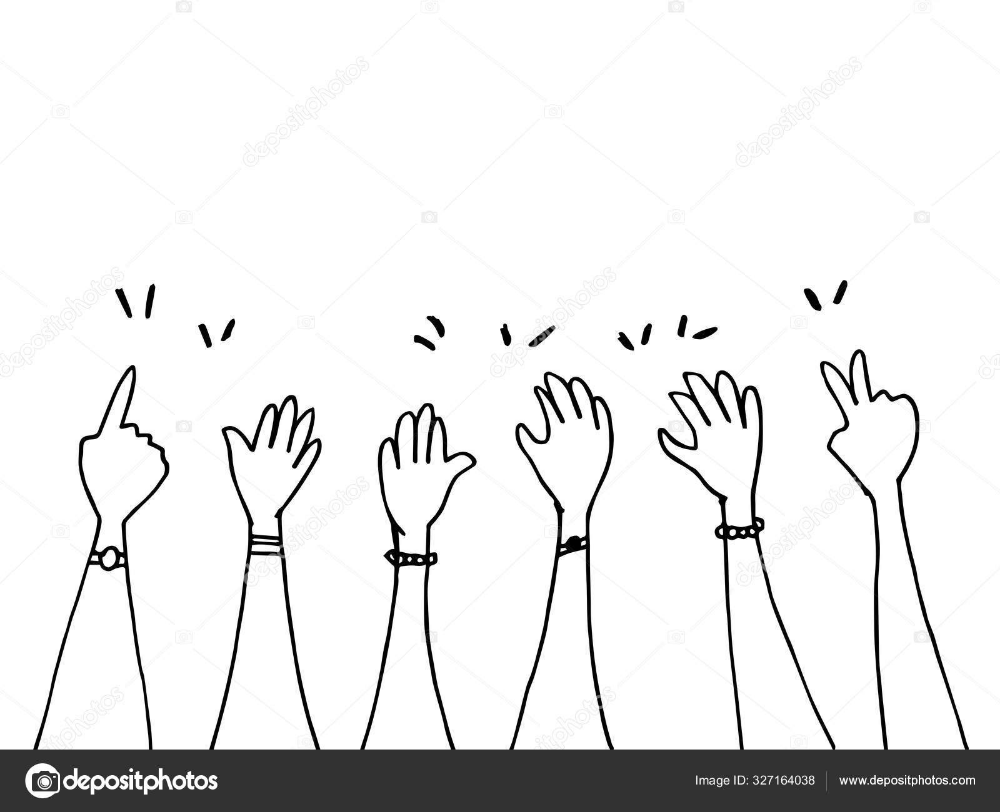 Download Doodle Hands Up Hands Pointing Gestures Congratulation Business Vector Illustration Stock Illustration Di 2020